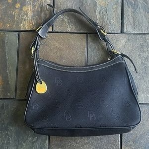 Dooney and Bourke Black Hand Bag with Duck